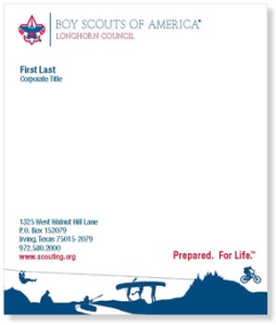 2011-stationery Boy Scout Microsoft Office Letterhead Template on